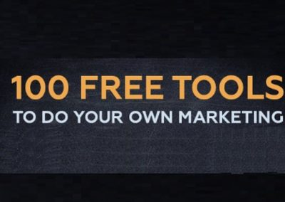 100 Free Marketing Tools to Help You Grow Your Business [Infographic]
