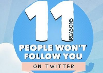 11 Reasons You Don't Have More Followers [Infographic]