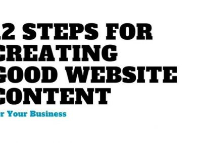 12 Steps for Creating Good Website Content [Infographic]