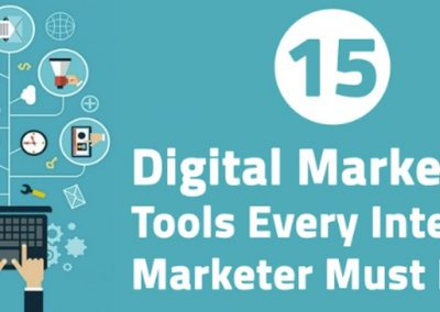15 Essential Digital Marketing Tools for an Internet Marketer [Infographic]