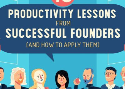 15 Productivity Lessons from Successful Founders (and How to Apply Them) [Infographic]