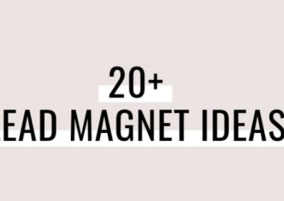 20 Lead Magnet Ideas to Rapidly Grow Your Email List [Infographic]