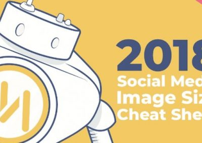2018 Social Media Image Size Cheat Sheet [Infographic]