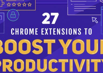 27 Google Chrome Extensions to Make You More Productive [Infographic]