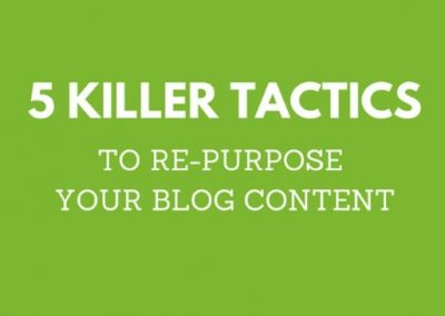 5 Simple Strategies To Repurpose Your Blog Content [Infographic]