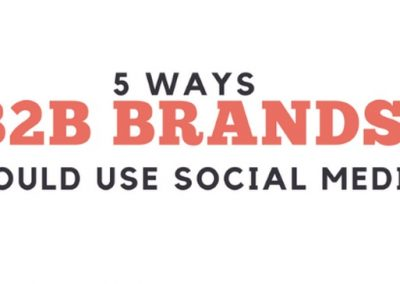 5 Ways B2B Brands Should Use Social Media [Infographic]