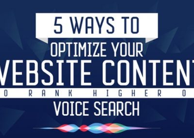 5 Ways to Optimize Your Website Content to Rank Higher via Voice Search [Infographic]