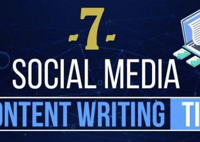 7 Social Media Content Writing Tips