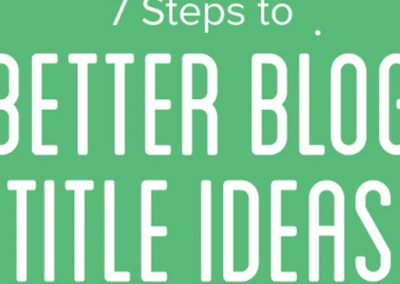 7 Steps to Better Blog Title Ideas [Infographic]