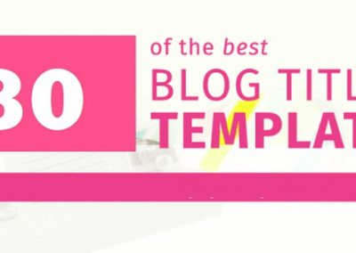 80 Blog Title Templates That Will Grab Attention and Generate More Readers [Infographic]