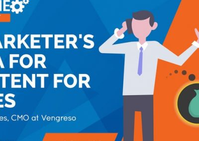 A Marketer's Plea for Content for Sales
