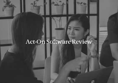 Act-On Software Review