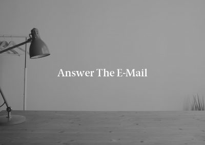 Answer the E-Mail