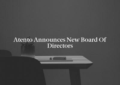 Atento Announces New Board of Directors