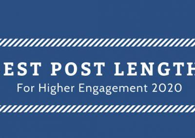 Best Social Media Post Lengths for Higher Engagement in 2020 [Infographic]