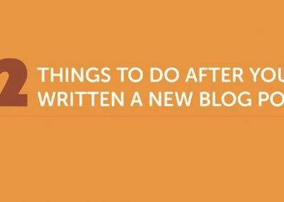 Blog Promotion Checklist: 12 Things to Do After You've Written a New Post [Infographic]