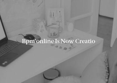 bpm'online is now Creatio