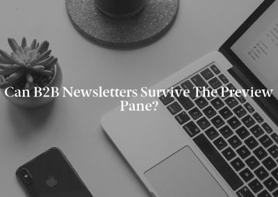 Can B2B Newsletters Survive the Preview Pane?