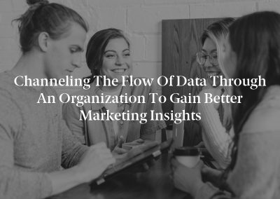 Channeling the Flow of Data Through an Organization to Gain Better Marketing Insights