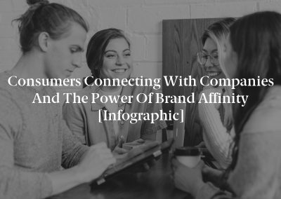 Consumers Connecting with Companies and the Power of Brand Affinity [Infographic]