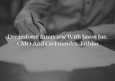 Dreamforce Interview with Jason Jue, CMO and Co-Founder, Triblio
