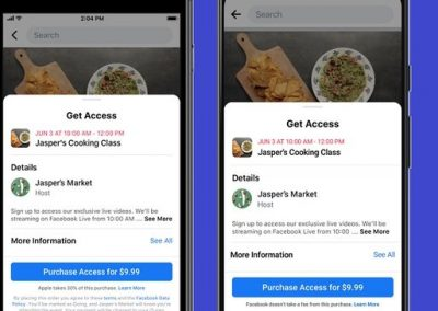 Facebook Adds New Paid Events Options for Businesses and Creators
