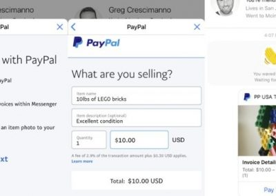 Facebook Adds New PayPal Invoicing and Payment Options to Messenger