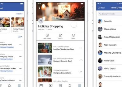 Facebook Adds Option to Share Collections of Ideas with Friends