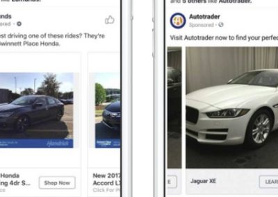 Facebook Announces New Ad Options for Car Dealers