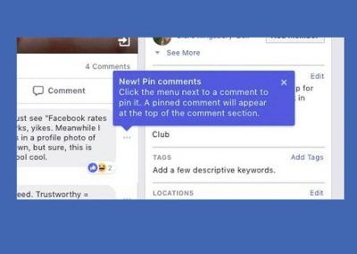 Facebook Group Admins Can Now Pin Comments to Focus Discussion