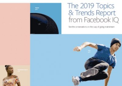Facebook Releases New Report on Key Trends to Watch in 2019