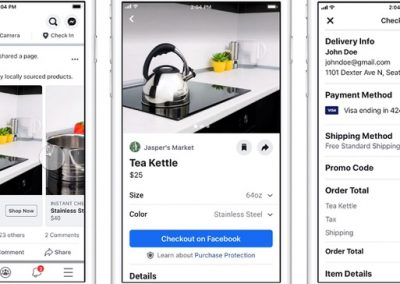 Facebook Tests New In-App Shopping Ads for Both Facebook and Instagram
