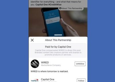 Facebook Tests New Info Labels for Branded Content Partnerships
