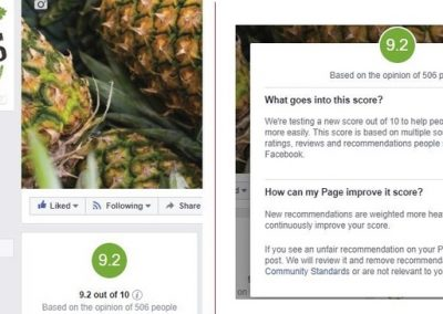 Facebook Tests New Rating System for Brand Pages