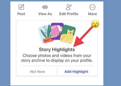 Facebook's Rolling Out Facebook Stories Highlights on Profiles