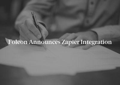 Foleon Announces Zapier Integration