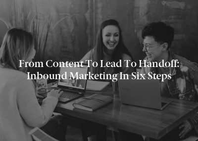 From Content to Lead to Handoff: Inbound Marketing in Six Steps
