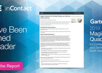 Gartner 2019 Magic Quadrant for Contact Center as a Service