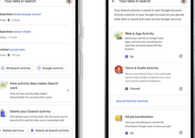 Google Adds New Data Control Options for Users