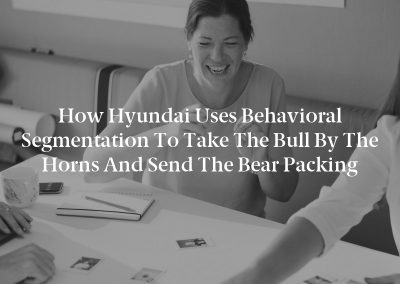 How Hyundai Uses Behavioral Segmentation to Take the Bull by the Horns and Send the Bear Packing