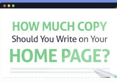 How Much Copy Should You Write on Your Homepage? [Infographic]