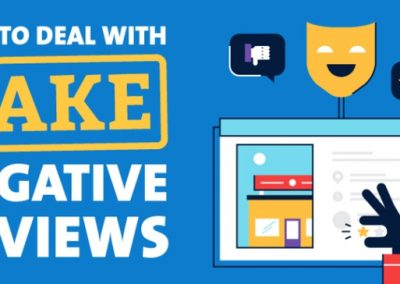 How to Deal with Fake Negative Reviews [Infographic]
