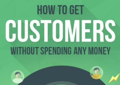 How to Get Customers Without Spending Any Money [Infographic]
