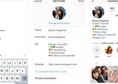 Instagram Will Now Allow Active Links to Other Profiles, Hashtags in Bios