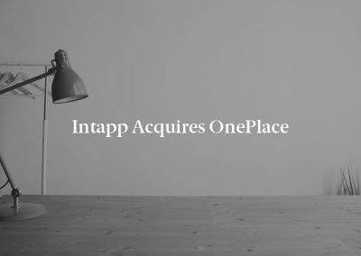 Intapp Acquires OnePlace