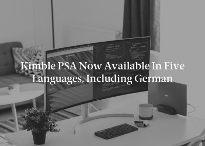 Kimble PSA Now Available in Five Languages, Including German