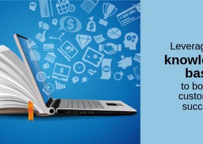 Leveraging a knowledge base to boost customer success