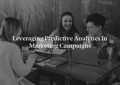 Leveraging Predictive Analytics in Marketing Campaigns