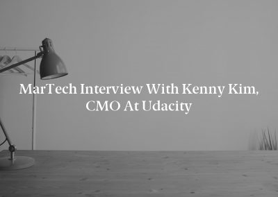 MarTech Interview with Kenny Kim, CMO at Udacity
