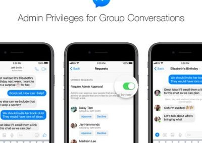 Messenger Adds Group Admin Tools, Group Chat Links